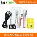2 unids joyetech ego kit aio quick starter kit 1500 mah batería capacidad todo-en-un e-cigarrillo vaporizador (vape pluma) 100% auténtico