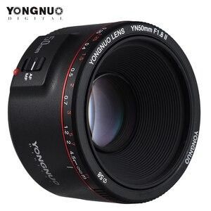 Image 2 - YONGNUO YN50mm YN50 F1.8 II Camera Lens EF 50mm AF MF Lenses For Canon Rebel T6 EOS 700D 750D 800D 5D Mark II IV 10D 1300D