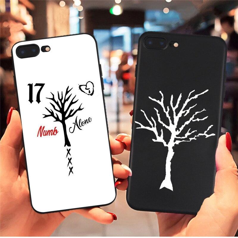 Us 173 36 Offxxxtentacion Drzewo życia Tatuaż Etui Na Telefon Dla Iphone X Xr Xs Max 8 7 6 S Plus 5s Dla Samsung S8 S9 Plus S7 Krawędzi Etui Na