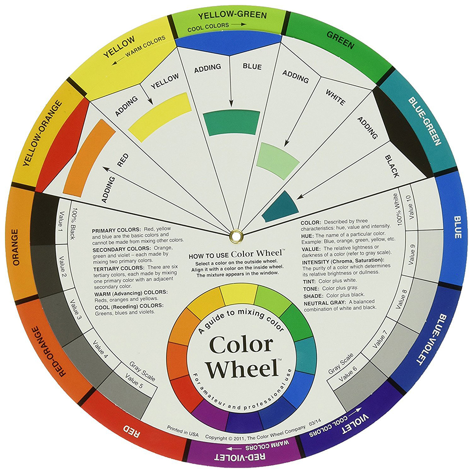 Color Wheel for Eyebrow Lip Microblading Pigment Ink Mixture Color Palette Maincure Colour Card Salon Tool