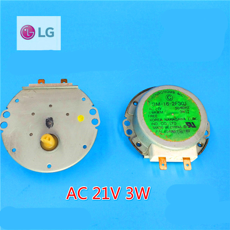 1pcs original disassemble suitable for LG microwave glass tray motor turntable motor GM-16-2F301 microwave parts microwave accessories microwave glass turntable microwave stand synchronous motor revolutions core bobbin gm accessories