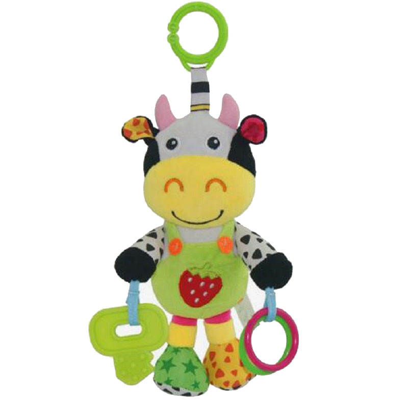 2016 Baby Speelgoed Pluche Baby Musical Speelgoed Hand Bells Baby Sease Speelgoed Newbron Gift Aardbei Koe Stijl 0-12 maanden