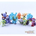12pcs/Set Monsters Inc. Monsters University Mike Sully Mini PVC Action Figure Toys Dolls Boys Toys Gifts 4-7cm  DSFG063
