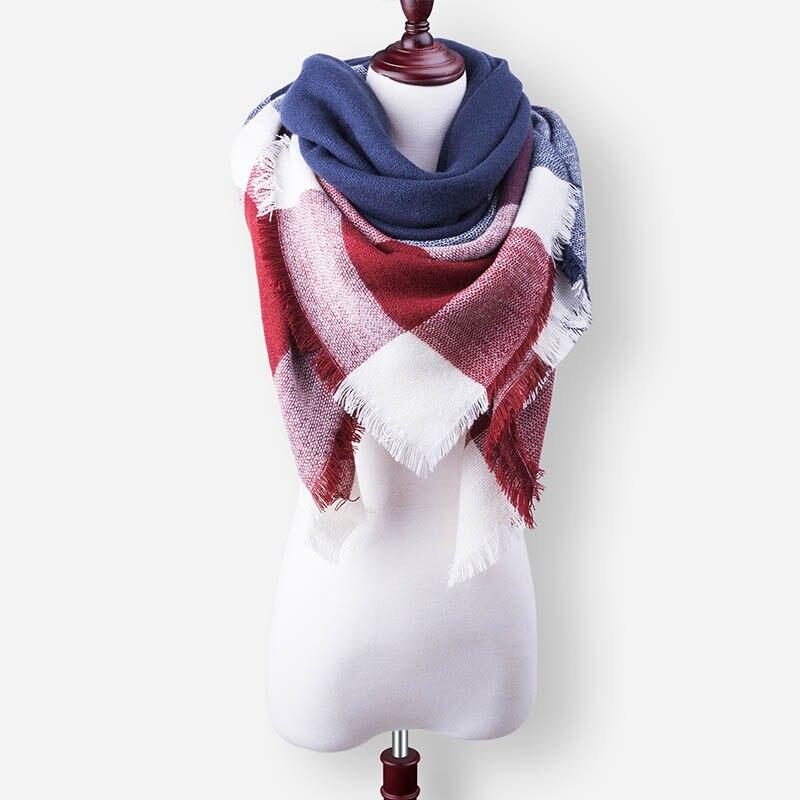 Бренд Evrfelan, шарфы, Прямая поставка, женский зимний шарф, высокое качество, плед, одеяло, шарф и шаль, большой размер, плотные шарфы, шали - Цвет: W21