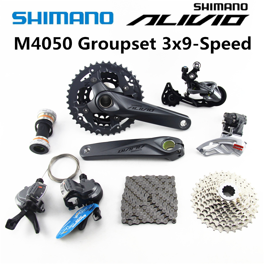 Shimano Alivio M4000 M4050 Groupset Mtb Mountain Bike 3x9 Crankset 40t Speed 27 Derailleur In Bicycle From Sports Entertainment On