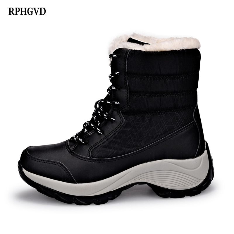 Velvet-Shoes Snow-Boots Waterproof Tide Winter Women's High-Top with New The Versatile