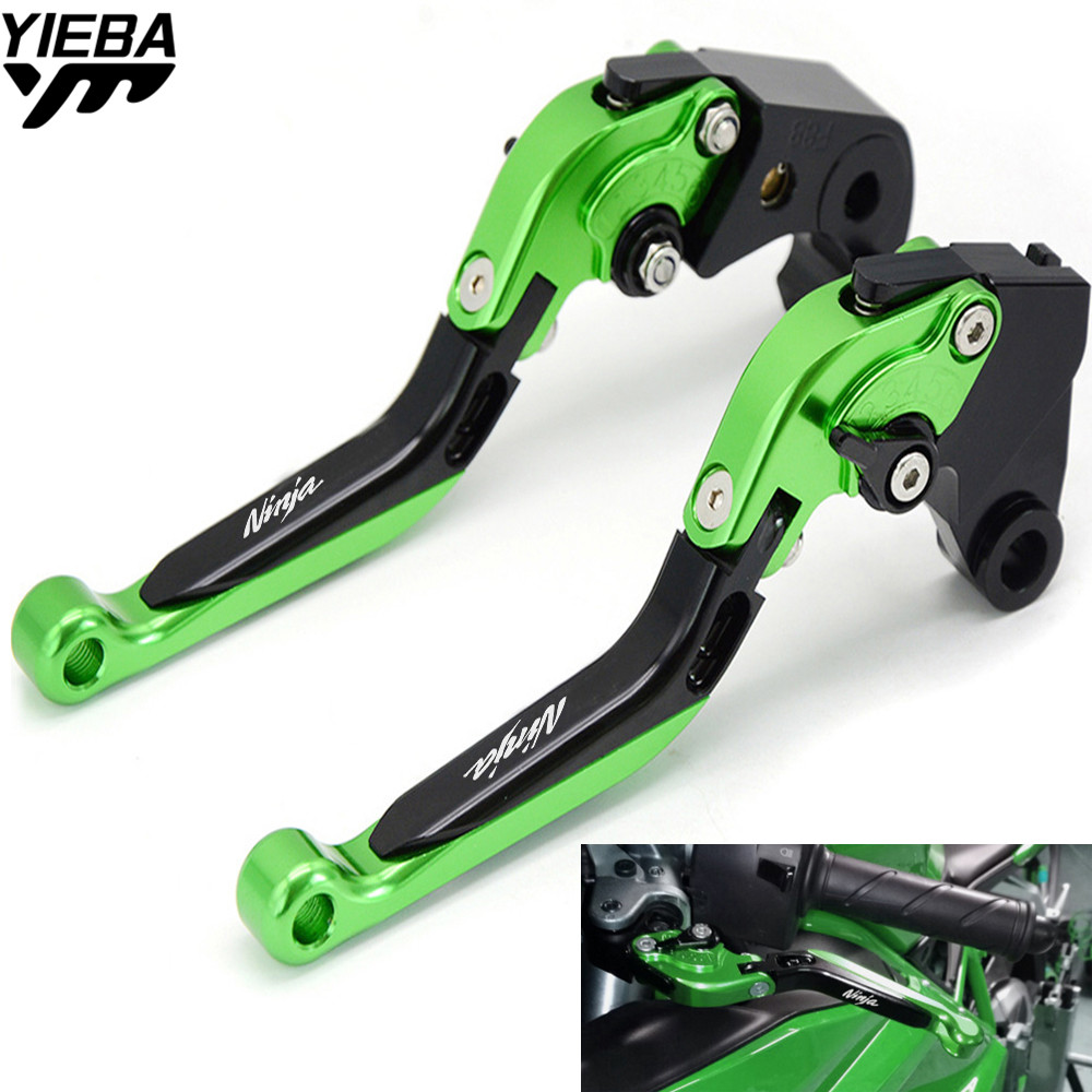 FOR LOGO Motorcycle Accessories Brake Handle Adjustable Folding Brake Clutch Levers For KAWASAKI NINJA400R NINJA 400R 400 R 2011 for kawasaki ninja 300r 300 r 2013 2017 ninja 250r 2008 2016 z250sl z300 motorcycle folding extendable brake clutch levers