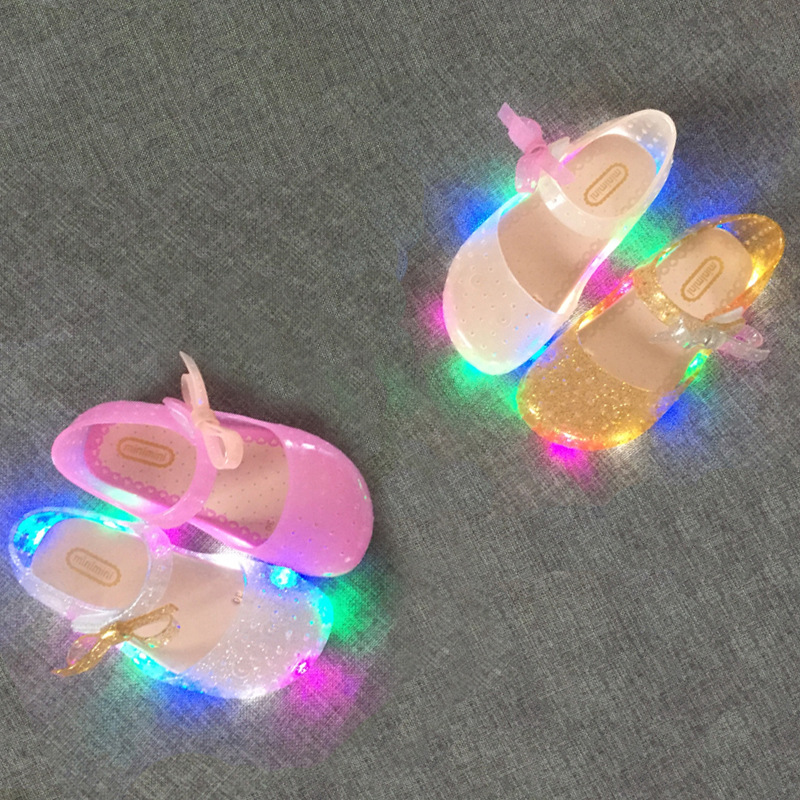 2017-new-LED-light-flashing-bow-buttress-cool-slippers-fish-head-mouth-head-jelly-girl-fragrant-princess-sandals-4