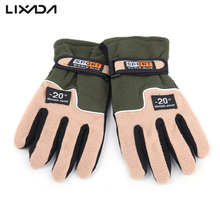 Adjustable Fishing Gloves Men Full Finger Fleece Outdoor Windproof Thermal Winter Ski Cycling Skiing Hiking 5 Color
