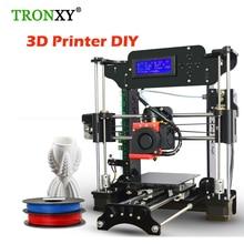 Легко собрать eprap Prusa i3 3D DIY принтер комплект мини Размеры 3D принт деталей DIY Kit с 8 ГБ TF карты и ЖК-дисплей Экран + 1 рулон filamanet
