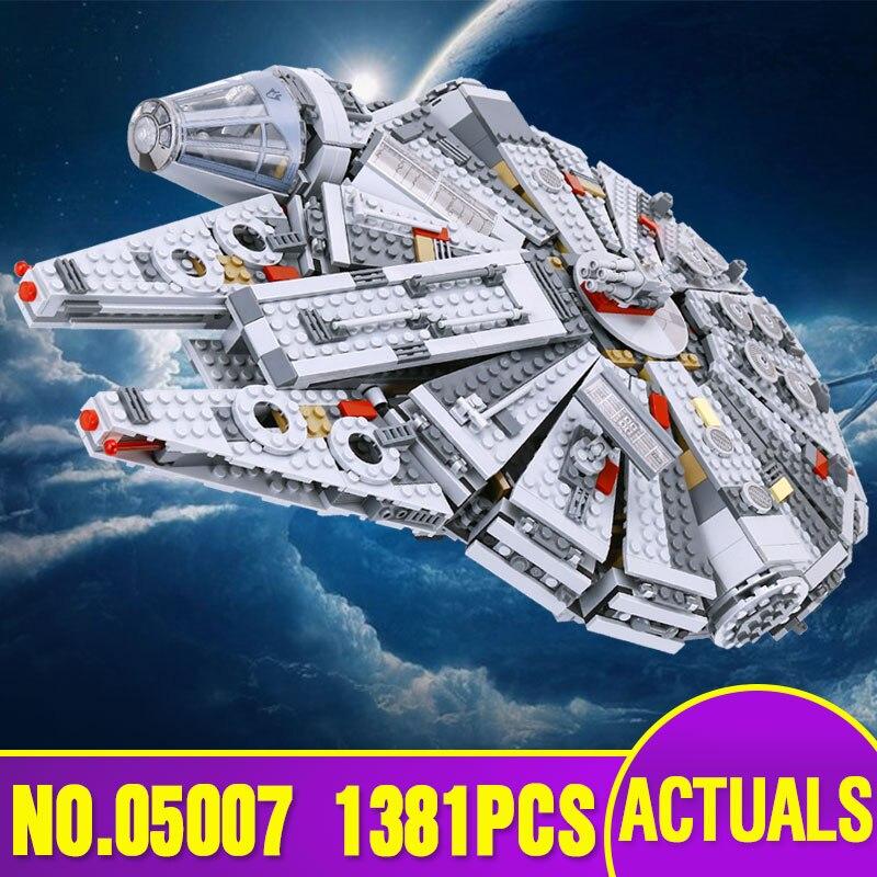 Espagne Entrepôt Russe Lepin 05007 Série Star Wars Force Éveille Du Millénaire Bâtiment Falcon Blocs Briques Legoing 75105 Jouets