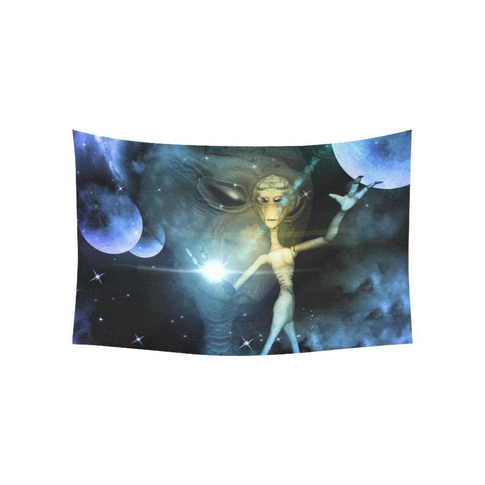 Outer space home decor wall art alien with magical power for Outer space decor