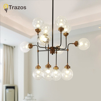 TRAZS Modern Glass Pendant Light Nordic Dining Room Kitchen Light Designer Hanging Lamps Avize Lustre Lighting