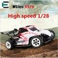 RC Racing Pantanosas K979 Wltoys 1/28 de Alta Velocidad 30 km/h 4WD Coche 2.4 ghz de control remoto de deriva toys super coche vs a979 rc vehículos