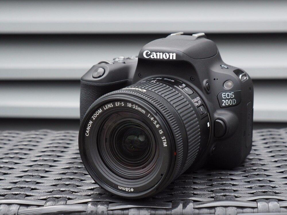 Canon EOS 200D/rebelle SL2 appareil photo reflex numérique & 18-55mm est l'objectif STM-noir