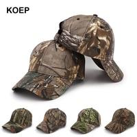 KOEP New Outdoor Jungle Fishing Baseball Hat Cap Man Camouflage Hunting Hat Casquette Bone Cotton rucker Camo Snapback Dad Caps|baseball cap|fishing capcap bird -