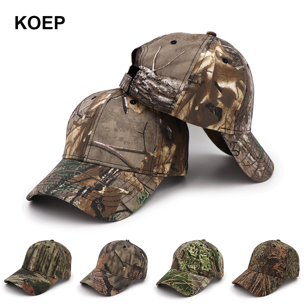 KOEP New Outdoor Jungle Fishing   Baseball   Hat   Cap   Man Camouflage Hunting Hat Casquette Bone Cotton rucker Camo Snapback Dad   Caps