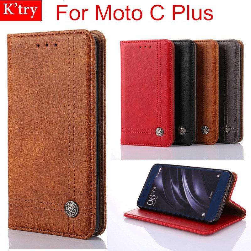 Pour Motorola Moto C Plus Cas Dirt Résistant En Cuir Portefeuille Flip Sac de Couverture de Cas Pour Moto C Plus 5.0 Pouce