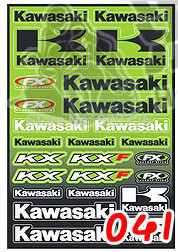Free shipping for Kawasaki motorcycle ZX-6R/7R/9R/10R/12R/14R Pedal Electric Motocross car decals body decals stickers