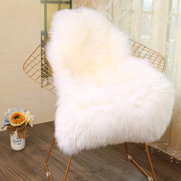 1piece Fur Faux Artificial Sheepskin Carpet Washable Seat Pad Fluffy Rugs Hairy Wool Soft Warm Carpets For Living Room