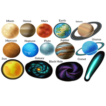 Black Hole Space Adventures Solar System Felt Board Set Planets Earth Print Fabric Kid Toys send Loop Hook adhesive sticker