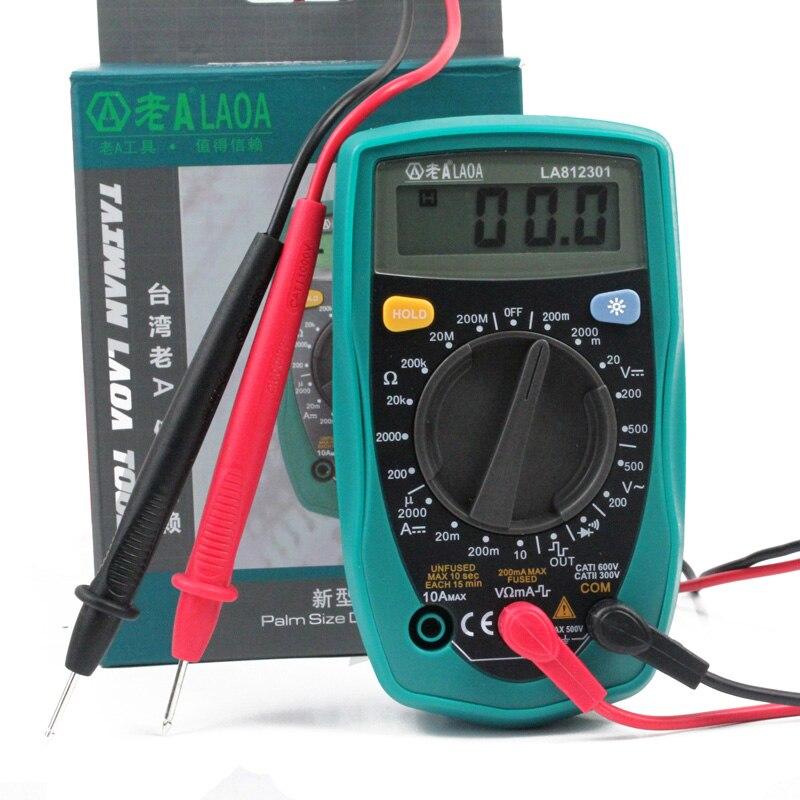 ФОТО LAOA Hand held Electric Voltage Tester Digital Clamp Multimeter AC Portable Multi Meter Amperemeter Multimetro