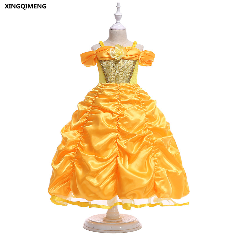In Stock Lovely Yellow Flower Girl Dress for Weddings 3-10Y Pageant ...
