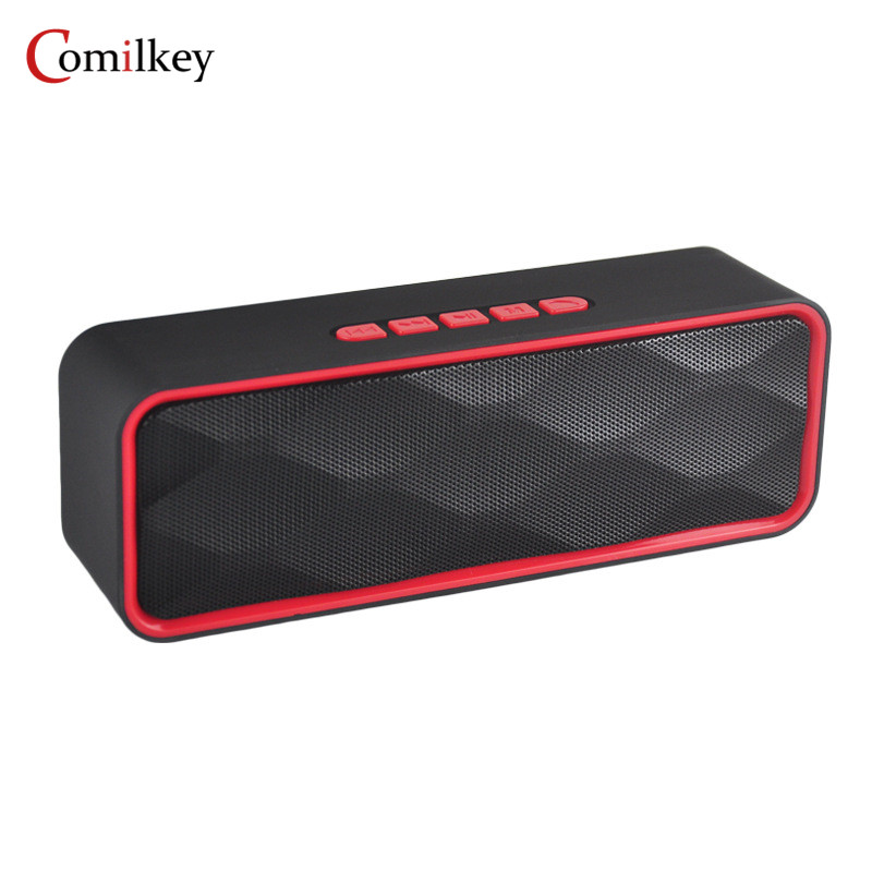 Comilkey Mini Bluetooth Wireless Speaker Portable Speaker Soundbar System 3D Stereo Music Surround Support Cellphone TF AUX USB