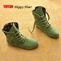 2017 Otoño Invierno Zapatos de Las Mujeres Amantes de Las Botas de Martin Botas de Nieve Suaves Botas Parejas Zapatos de Lona de Algodón Unisex de la Marca de Botas de Tobillo