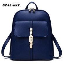 GZ-LY-GJT модные женские туфли рюкзак высокое качество из искусственной кожи Эсколар Школьные ранцы для подростков девочек ручка Рюкзаки заклепки