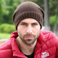 Hats & Caps for Men Solid Color Knitted Winter Skullies and Beanies with Fleece Lining Keep Ear Warm Top Quality Boy's Hat