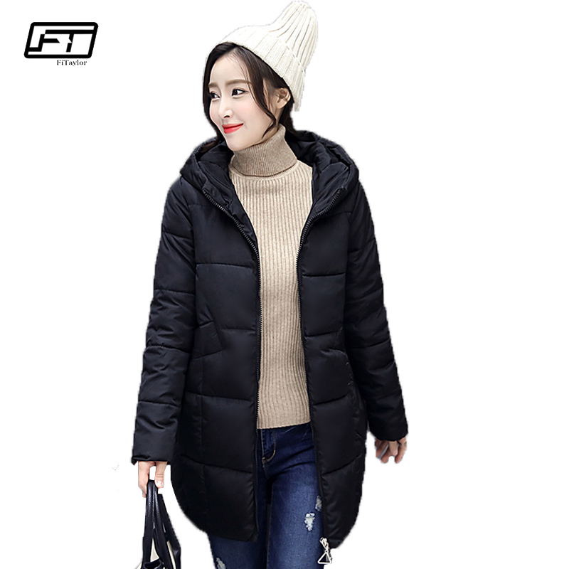 Fitaylor Winter Coat Women Jacket 2017 Plus Size Hooded Black Parka High Quality Thick Warm Cotton Slim Fashion Female Costume fitaylor winter coat women jacket hooded thick casual cotton padded black parka mujer warm slim plus size female jacker
