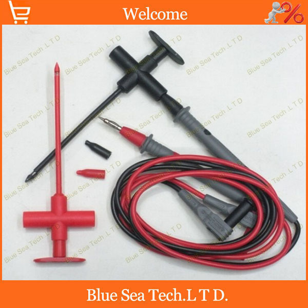 ФОТО Multimeter & car industry test tool kids stest hook clip +10M plug probe 2 in 1 testing toolCATIII 1000V 16A