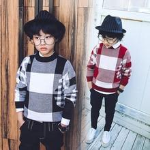Cuhk детские детские свитера прилив 2016 новых зимней одежды детская одежда мальчик добавить шерсть свитер с толстым