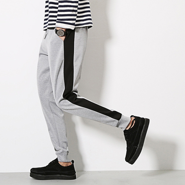 2017 Venta Caliente de Los Hombres pantalones masculinos Harem Joggers Basculador hombres ocasionales activos pantalones hasta Los Tobillos hombres pantalón