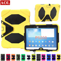 Tablet pc case for samsung galaxy Tab3 10.1 inch P5200 silicone shockproof case resistance shell with Screen Protector Cover