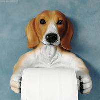 Lovely Animal Toilet Paper Stand Resin Dog Dinosaur Elephant Frog Paper Towel Holder Paper Cover Box Kitchen Paper Holder
