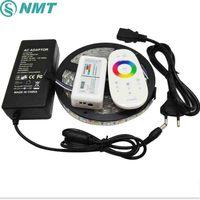 5M Led Strip RGBW RGBWW 5050 SMD LED Light DC12V IP20/IP65 Waterproof Tape +2.4G RGBW Remote Controller+ 5A Power Adapter Kit