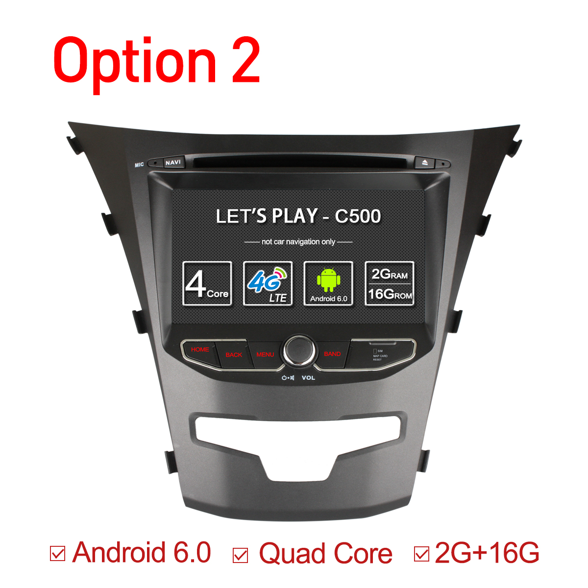 Ownice C500 Octa 8 Core Android 6.0 For Ssangyong Actyon 2014 Korando Quad Core Support 4G SIM LTE Network DAB+ 2GB RAM 32GB ROM