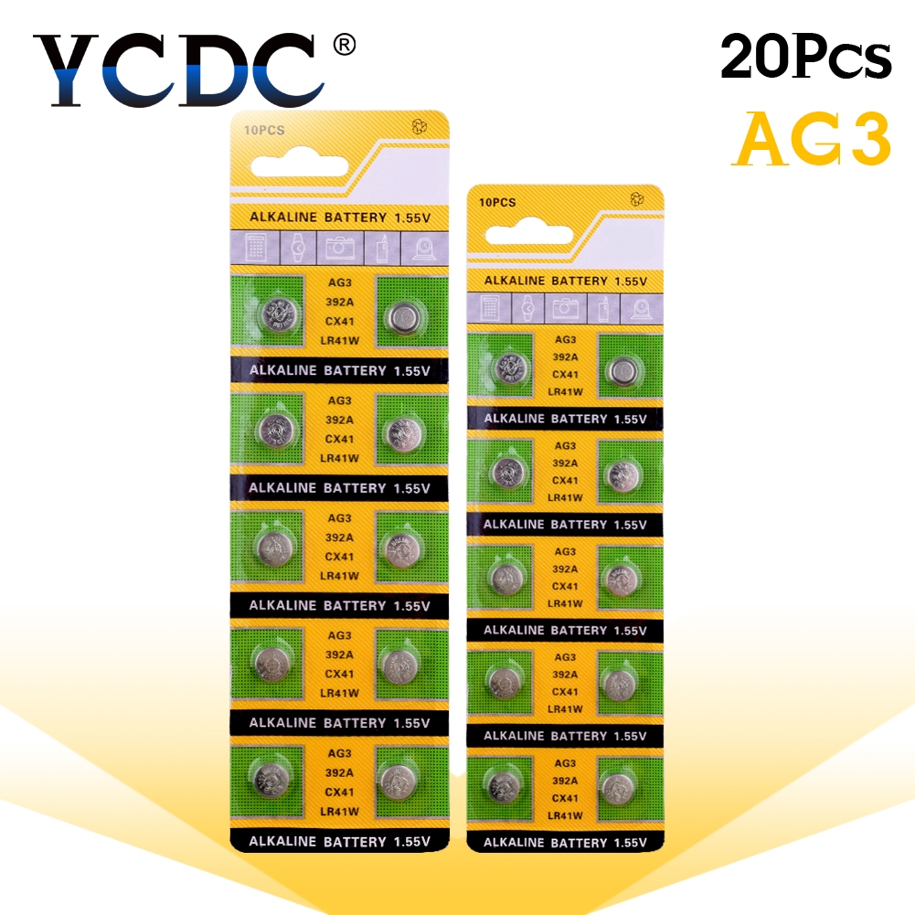 Cheap 49%off Sale 20 Pcs/lot Alkaline Battery 1.55V G3 AG3 LR41 LR736 V3GA SR41 192 392 Button Cell Coin 2019 New Arrival