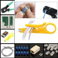 Cat 6 Network Ethernet LAN Kit Cable Tester Crimper Crimping Tool Wire Stripper Pliers