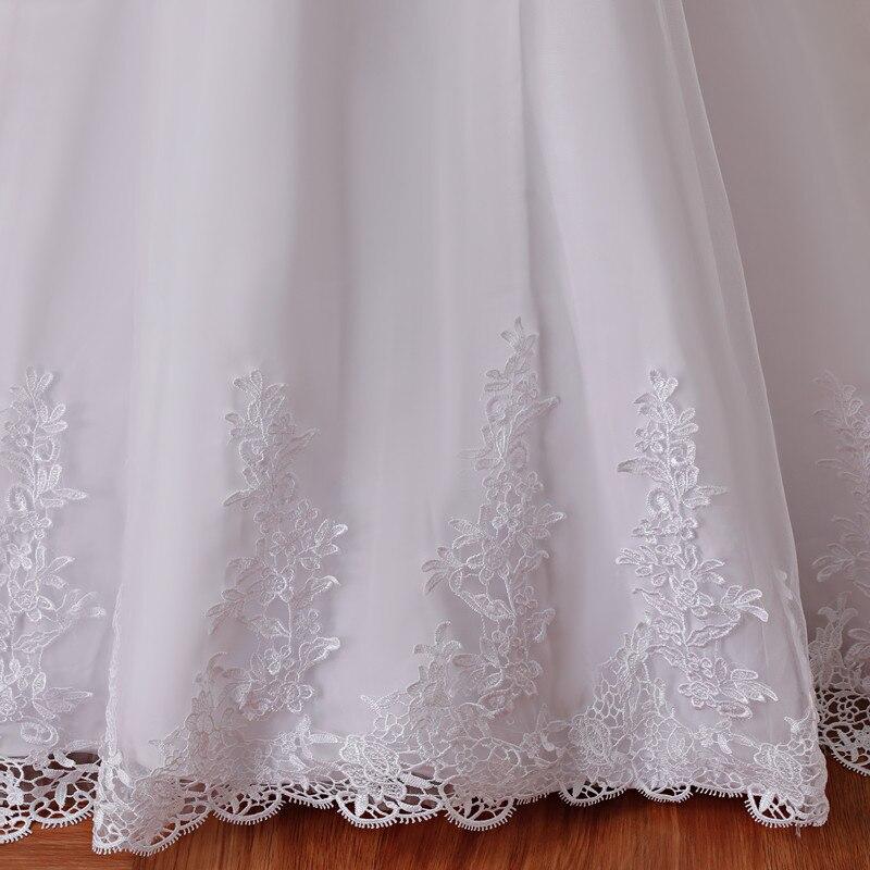 2019 nouvelle Illusion Vestido De Noiva blanc dos nu dentelle sirène robe De mariée Cap manches robe De mariée robe - 6