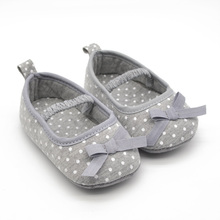 Unique Gray Butterfly-knot New Infant Toddler Babies Shoes