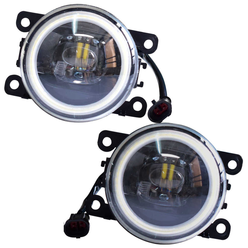 Angel Eyes LED Fog Light For Opel Zafira OPC 2005-2011 Fog Lamp Assembly Super Bright Halogen Fog Lamp Lights 2pcs