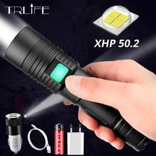 60000LM Power Flashlight XHP50.2 LED USB Rechargeable Torch Zoom Flashlighs XHP50 Lantern use 18650 26650 Battery
