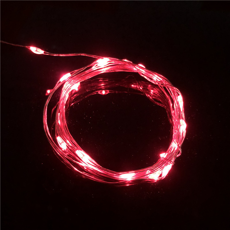 2M 20 LED Batteridrevet LED Kobber Wire String Lights til Xmas - Ferie belysning - Foto 5