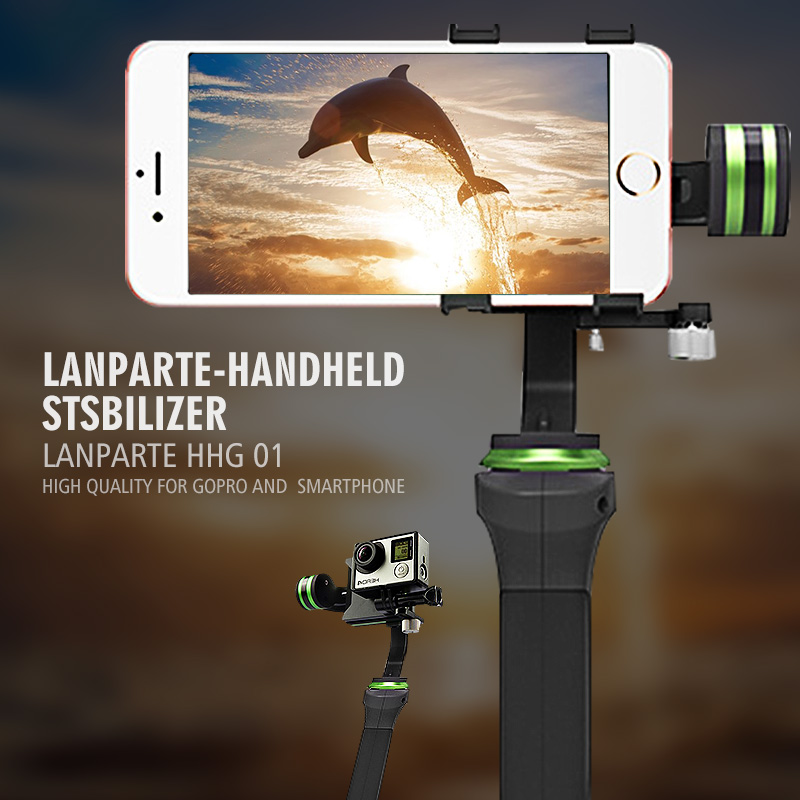 Lanparte HHG-01 Ultra 3-Axis for Gopro Handheld Steadycam Camera Gimbal Stabilizer Photo for DSLR Smartphones for iphone6 6plus