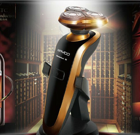 Venda quente do Sexo Masculino homem da marca 4D RQ1250 barbeador elétrico de barbear lavável navalha rosto cuidados de LÂMINAS de BARBEAR aparador de barba 3d originais homens