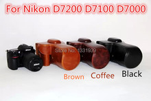 Leather case bag cover for Camera Case Bag for Nikon D7200 D7100 D7000 Digital SLR Camera  without Strap, free shipping!