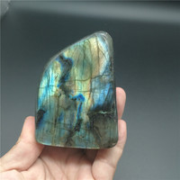 330g Natural Labradorite Crystal Rough Polished From Madagascar